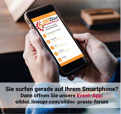 Event-App OilDoc Praxis-Forum